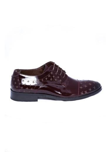 Wessi %100 Deri Bağcıklı Klasik Ayakkabı Bordo